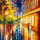 RAINY PATH by Leonid  Afremov
