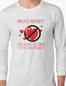 Heart Belongs To Girlfriend Long Sleeve T-Shirt