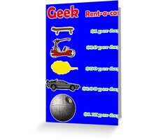 Vehicles. Simpsons, flinstones, dragonball, back to the future and star wars. Greeting Card