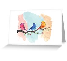 Watercolor birds Greeting Card