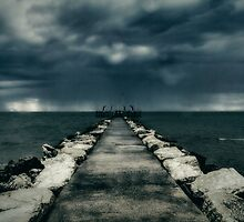 Storm over the sea by Roberto Pagani
