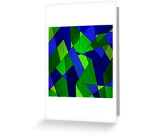 ABSTRACT LINES-1 (Blues & Greens)-(9000 x 9000 px) Greeting Card