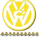 VW Emoticon Yellow Badge Design by jay007