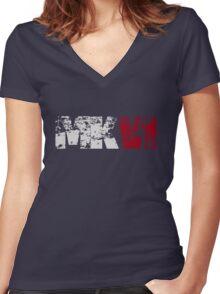 MKVI (white) Women's Fitted V-Neck T-Shirt