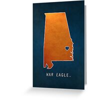 War Eagle Greeting Card