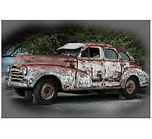 Old car vintage Syle Photographic Print