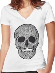 skullz Women's Fitted V-Neck T-Shirt