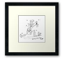 Dirty Sock Troll Framed Print
