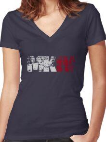 MKIV (white) Women's Fitted V-Neck T-Shirt