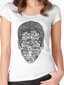 strange face Women's Fitted Scoop T-Shirt