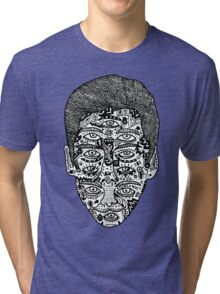 strange face Tri-blend T-Shirt