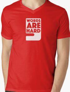 Words Are Hard - Comma Mens V-Neck T-Shirt