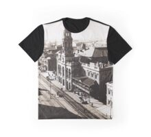 1928 Vintage Adelaide City Landscape Graphic T-Shirt