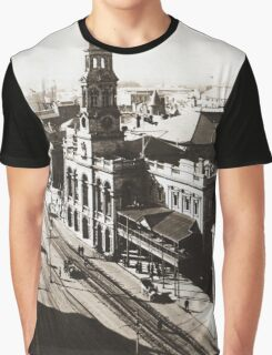 1928 Vintage Adelaide City Landscape Graphic T-Shirt