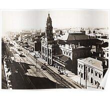 1928 Vintage Adelaide City Landscape Poster
