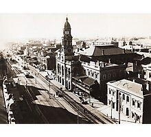 1928 Vintage Adelaide City Landscape Photographic Print