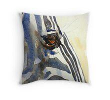 Eye of a Zebra Throw Pillow