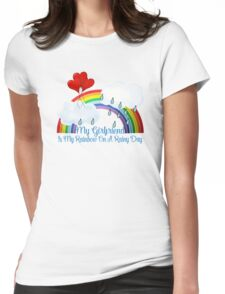 Girlfriend Is My Rainbow Womens Fitted T-Shirt