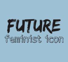 Future Feminist Icon - Black Kids Tee