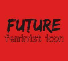 Future Feminist Icon - Black Baby Tee
