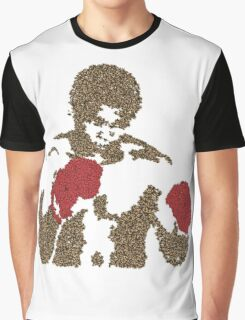 Muhammad Ali Inspired Art Made of Butterflies and Bees Graphic T-Shirt