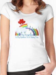 Boyfriend Is My Rainbow Women's Fitted Scoop T-Shirt