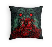 A wolf in the shape of a girl Throw Pillow