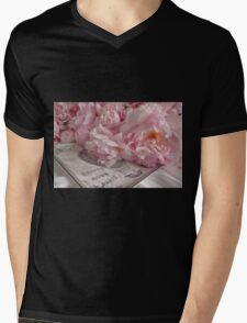 Paris Peonies Mens V-Neck T-Shirt