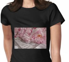 Paris Peonies Womens Fitted T-Shirt