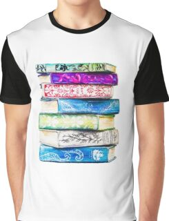 Stack of Books Graphic T-Shirt