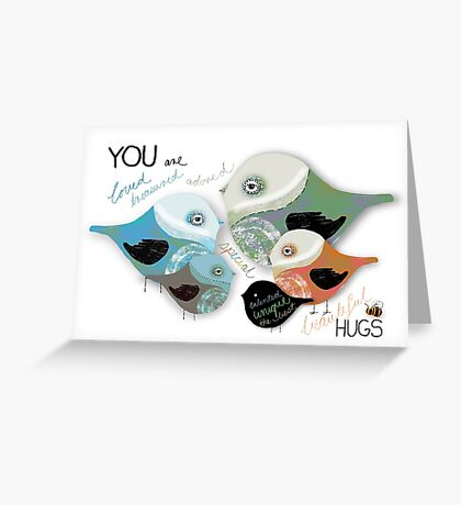 You are Loved Affirmation Greeting Card