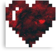 Pixel Heart Universe Canvas Print