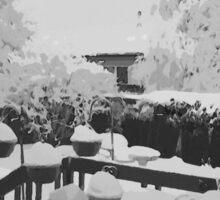 Winter In The Garden  Sticker