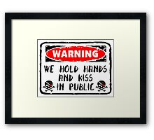 Love Hold Hands And Kiss Framed Print