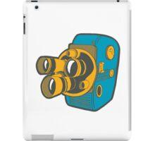 Retro Color Splash Cine Camera Blue iPad Case/Skin