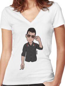 Alex Turner Arctic Monkeys Women's Fitted V-Neck T-Shirt