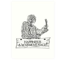 Game of Sausage Art Print