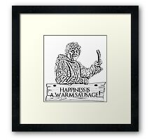 Game of Sausage Framed Print