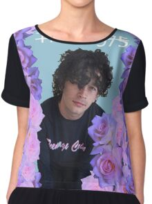 Matty Healy Floral Graphic Tee Women's Chiffon Top