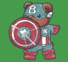 Captain A-bear-ica One Piece - Short Sleeve