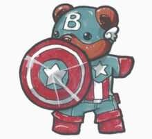 Captain A-bear-ica Kids Tee