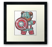 Captain A-bear-ica Framed Print