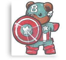 Captain A-bear-ica Canvas Print
