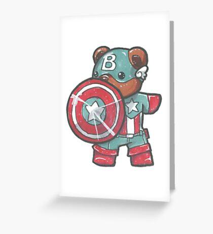 Captain A-bear-ica Greeting Card