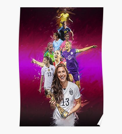 Alex Morgan From University Of California, Berkeley to Orlando Pride + National Team Poster