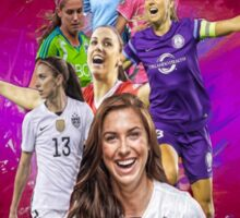 Alex Morgan From University Of California, Berkeley to Orlando Pride + National Team Sticker