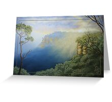 Sunset - Looking west from Echo Point, Blue Mountains, NSW Australia Greeting Card