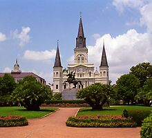 New Orleans - Andrew Jackson Square by Frank Romeo