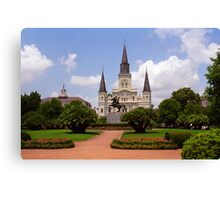 New Orleans - Andrew Jackson Square Canvas Print