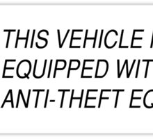 Theft Deterrent Sticker